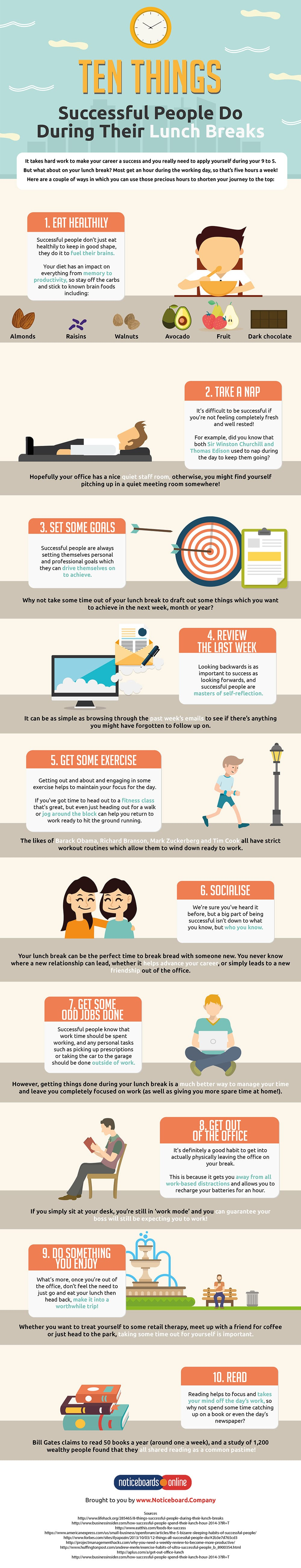 Ten Things Successful People Do During Their Lunch Breaks