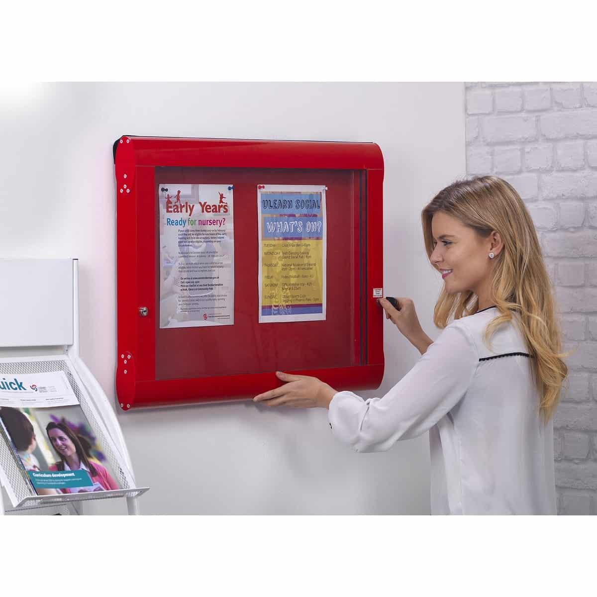 Flameshield Indoor Showcases Noticeboards Online Buy