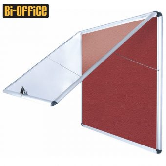 Bi-Office Encore Fire Resistant Top Hinged Aluminium Frame Indoor Glazed Case