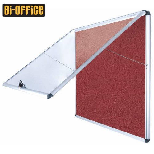 Bi-Office Encore Fire Resistant Top Hinged Aluminium Frame Indoor Glazed Case
