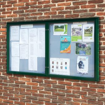Varicase Wall Mounted Double Door Outdoor Noticeboard (Colour Frame)