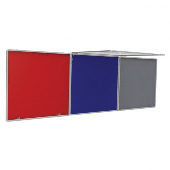 FlameShield Top Hinged Corridor Tamperproof Noticeboard