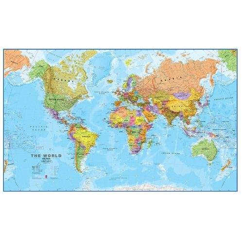 Bi-Office Laminated World Map