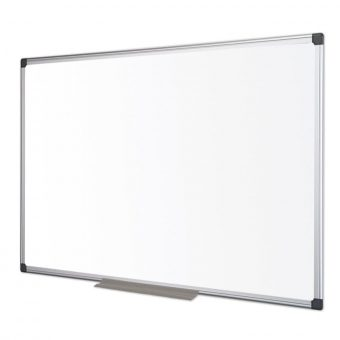 Bi-Office Enamel Maya Aluminium Framed Whiteboard