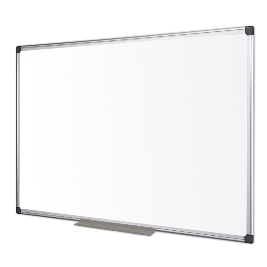 Bi-Office Enamel Maya Aluminium Framed Whiteboard