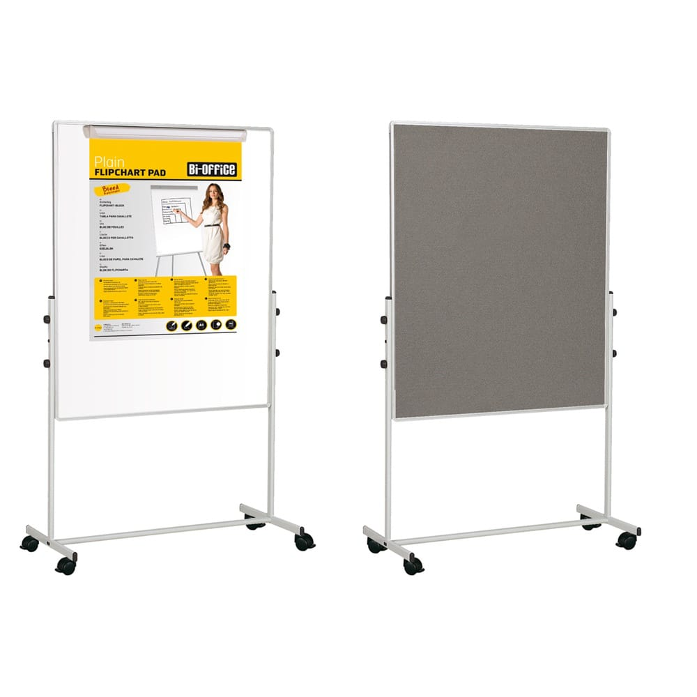 Bi-Office Mobile Duo Whiteboard - Noticeboards Online