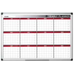 Colour Magnetic Twelve Month Annual Wall Planner