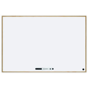 Budget Wood Frame Magnetic Whiteboard