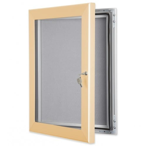 Colour Frame Lockable Pin Noticeboard