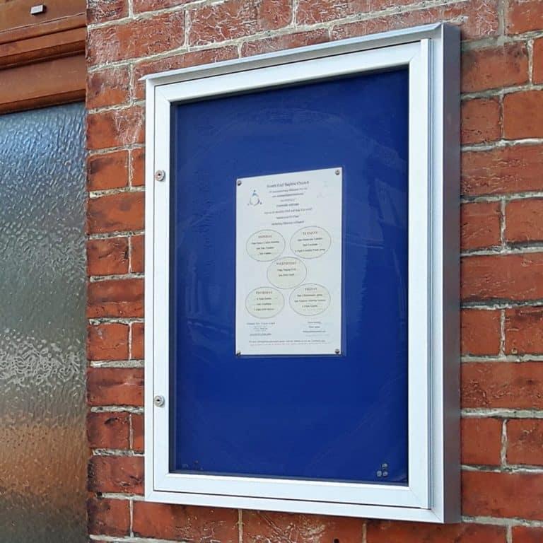 Varicase Wall Mounted Single Door Outdoor Noticeboard