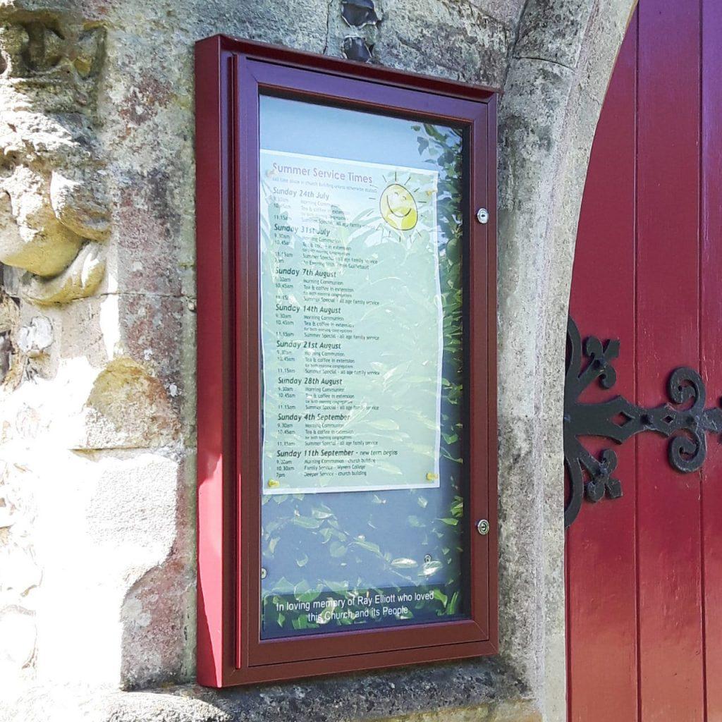 Varicase Wall Mounted Single Door Outdoor Noticeboard (Colour Frame)