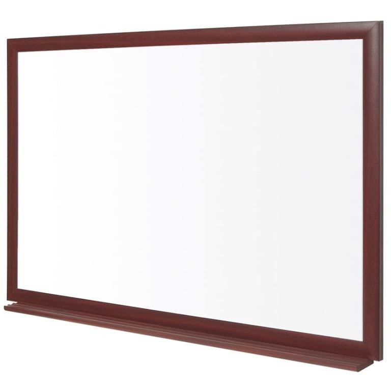 Earth-It Wood Frame Prime Enamel Whiteboard (600x900mm)