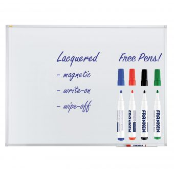 Lacquered Steel Magnetic Whiteboards With Pen Tray - Free Pens