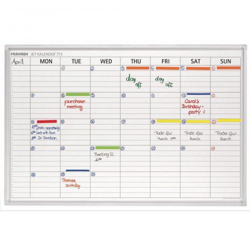 Franken Magnetic Weekly Calendar Planner