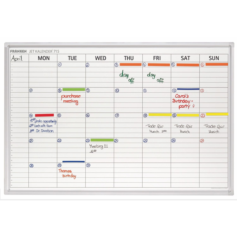 Franken Magnetic Weekly Calendar Planner Noticeboards Online