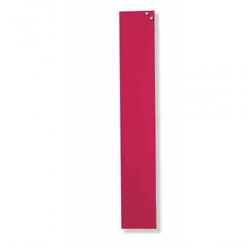 Franken Magnetic Glassboards 100 x 600mm Red