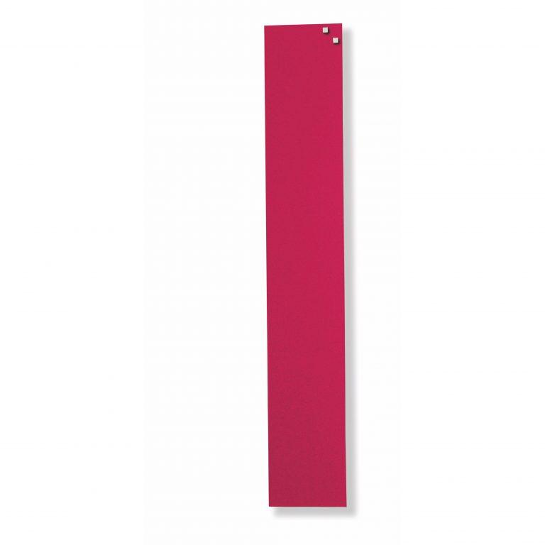 Franken Magnetic Glassboards 100 x 600mm Red
