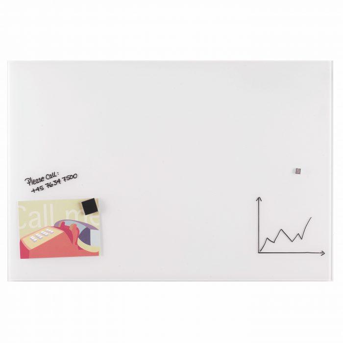 Franken Glass Board White magnetic 1200 x 900mm