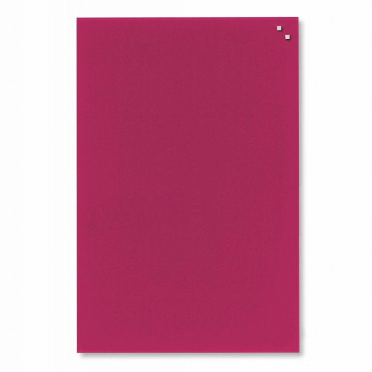 Franken Magnetic Glassboards 600 x 800mm Red