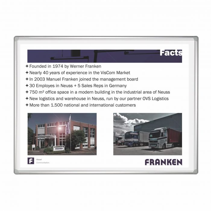 Franken Projection Enamelled Whiteboard 120x90cm
