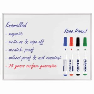 Professional Enamel Whiteboards - Free Pens