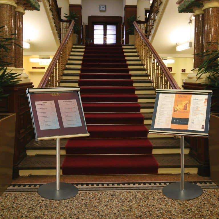 Hotel Foyer, Hospitality & Restaurant Freestanding Noticeboard