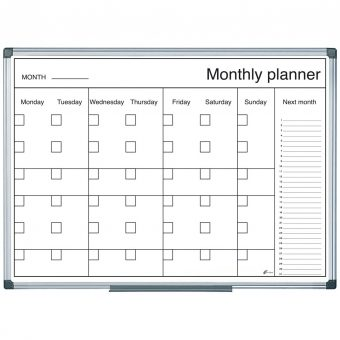 B&W Magnetic Month Wall Planner