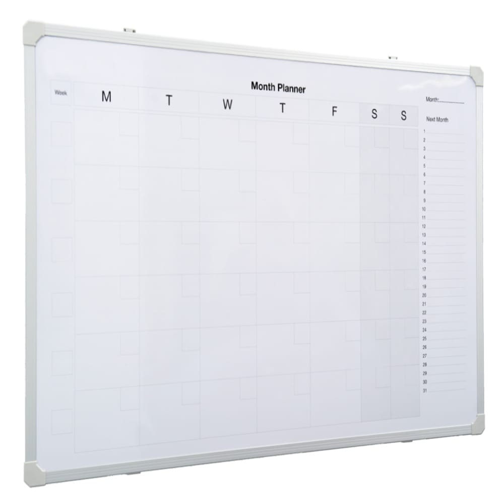 Monthly Planner Whiteboard 900 X 600 Noticeboards Online