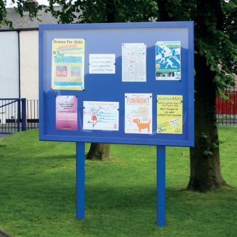 Stormguard Post Mounted Outdoor Noticeboard