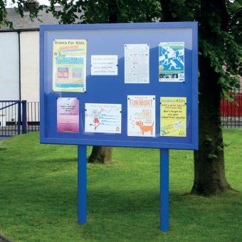 Stormguard Post Mounted Outdoor Noticeboard