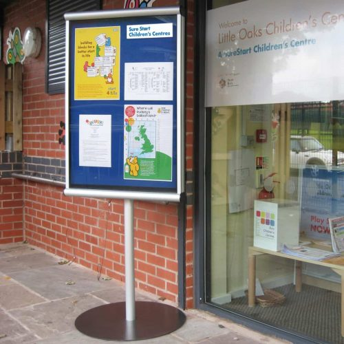 Free Standing Outdoor Weatherproof Scroll Noticeboards