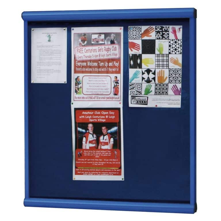 Scroll Wall Mounted Outdoor Noticeboard (Colour Frame)