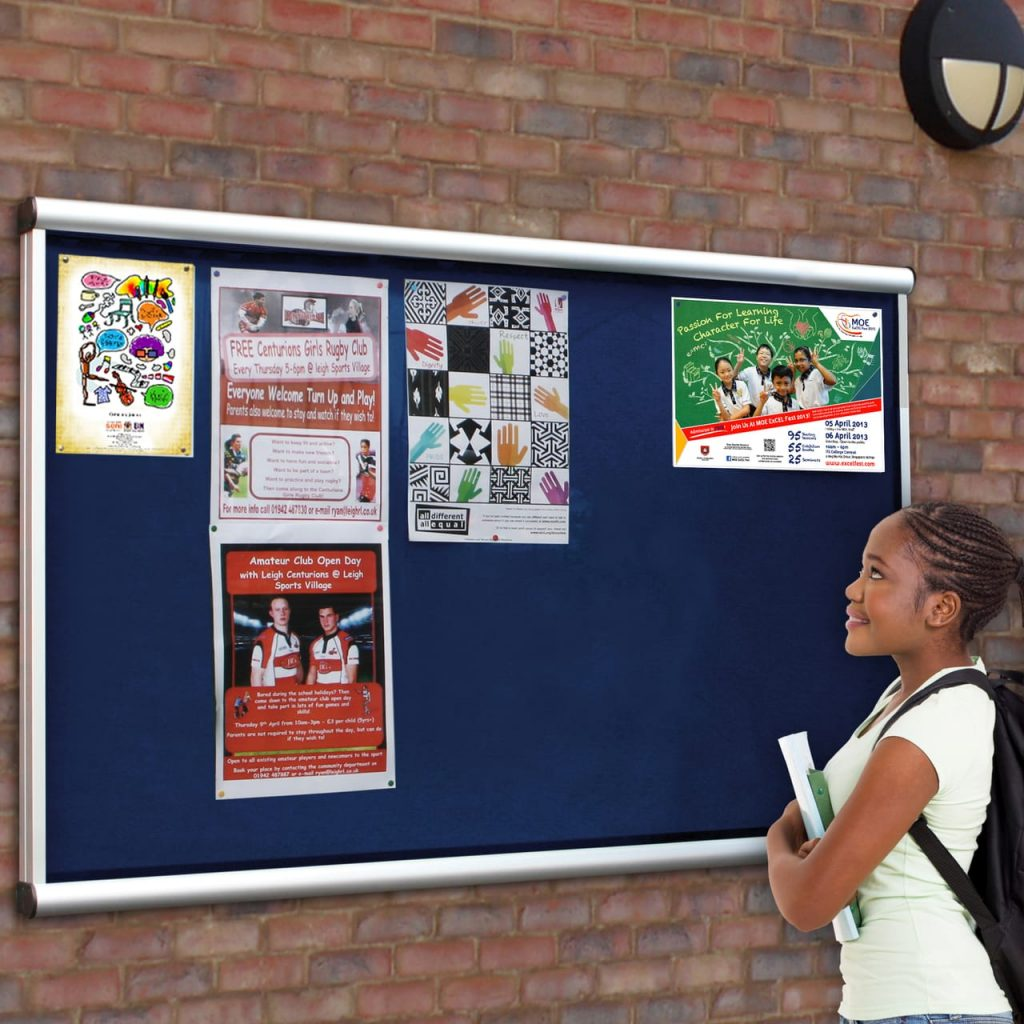 Scroll Wall Mounted Outdoor Noticeboard