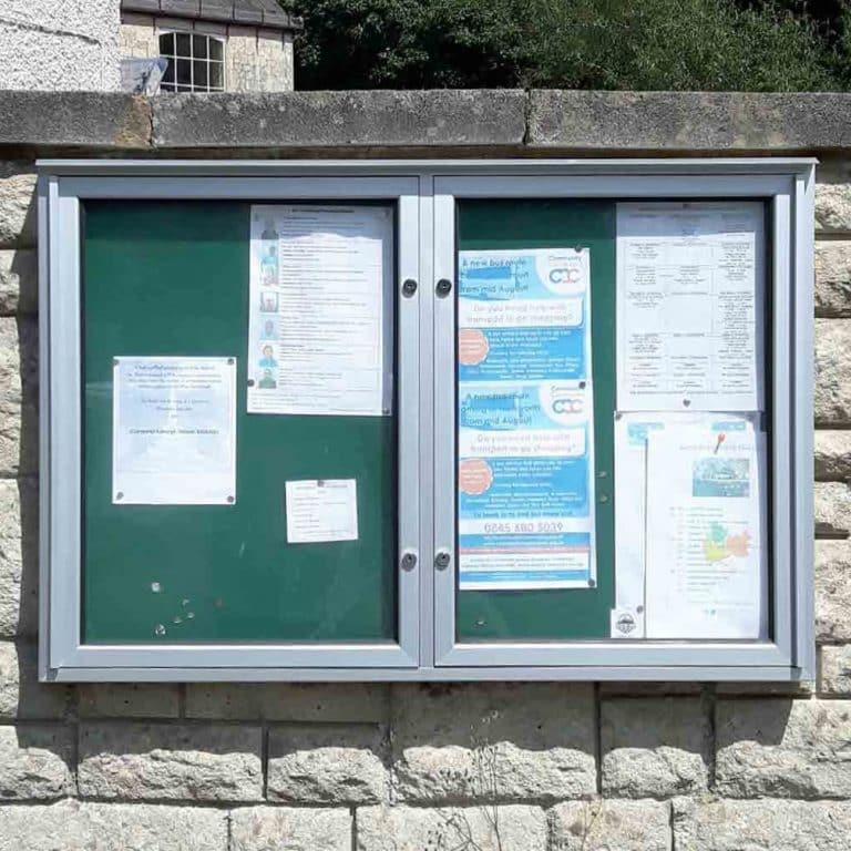 Varicase Wall Mounted Double Door Outdoor Noticeboard