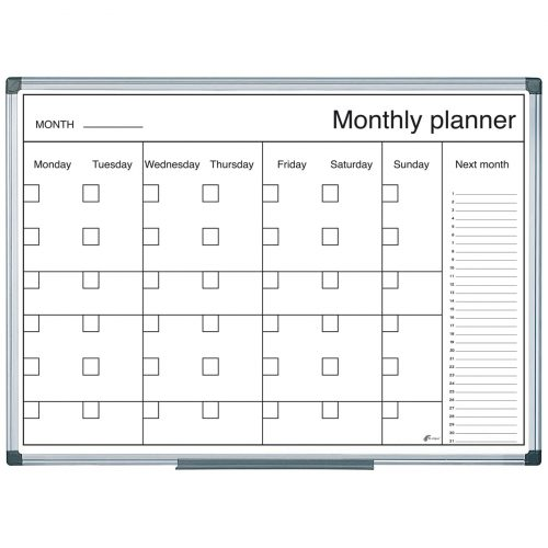 B&W Magnetic Week Wall Planner (600 x 400)
