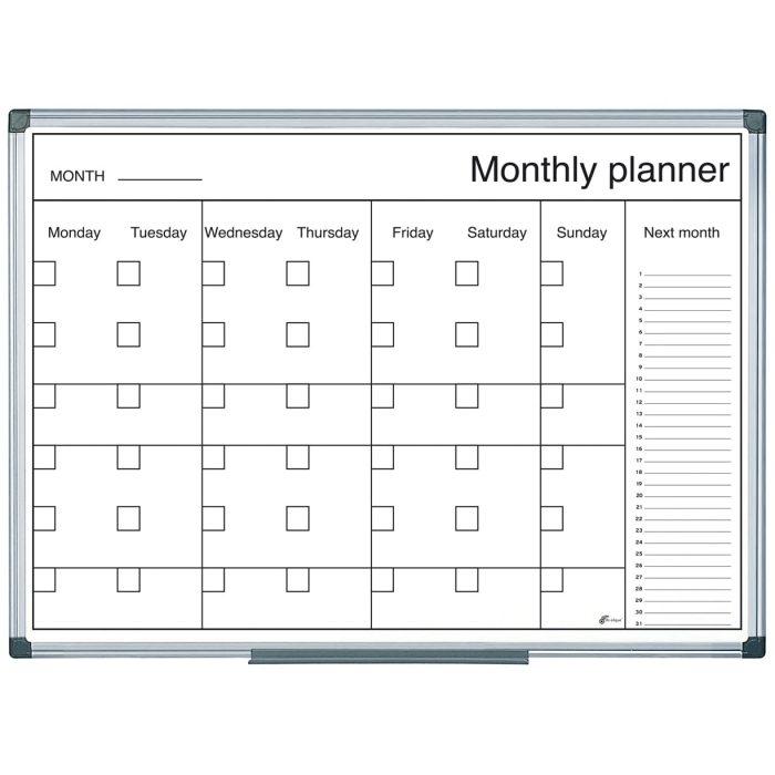 B&W Magnetic Week Wall Planner (600 x 400)