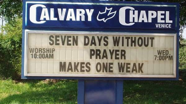 Days Without Prayer